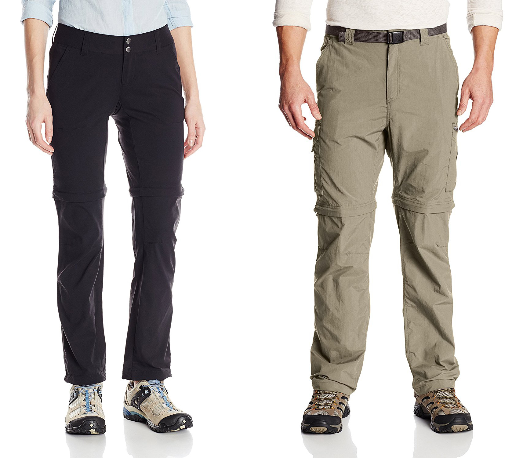 Columbia Silver Ridge Convertible Pants (Hiking pants men) & Columbia Saturday Trail Stretch Convertible Pants (Hiking Pants Women)