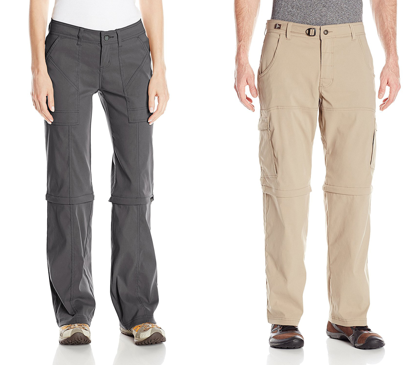 prAna Men's Stretch Zion Convertible (Hiking Pants Men) & prAna Women's Monarch Convertible Reg Inseam (Hiking Pants Women)
