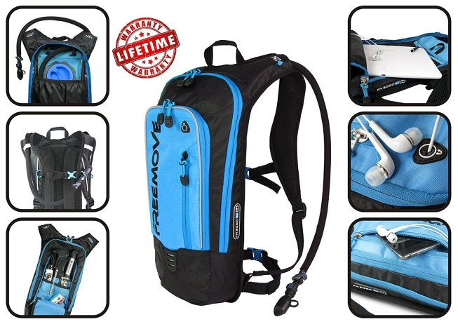 Freemove No.1 Hydration Pack Backpack with 2L Water Bladder & Cooler Bag