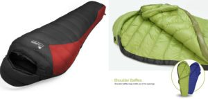Mountaintop 32 F Ultralight Lightweight Mummy Down Sleeping Bag