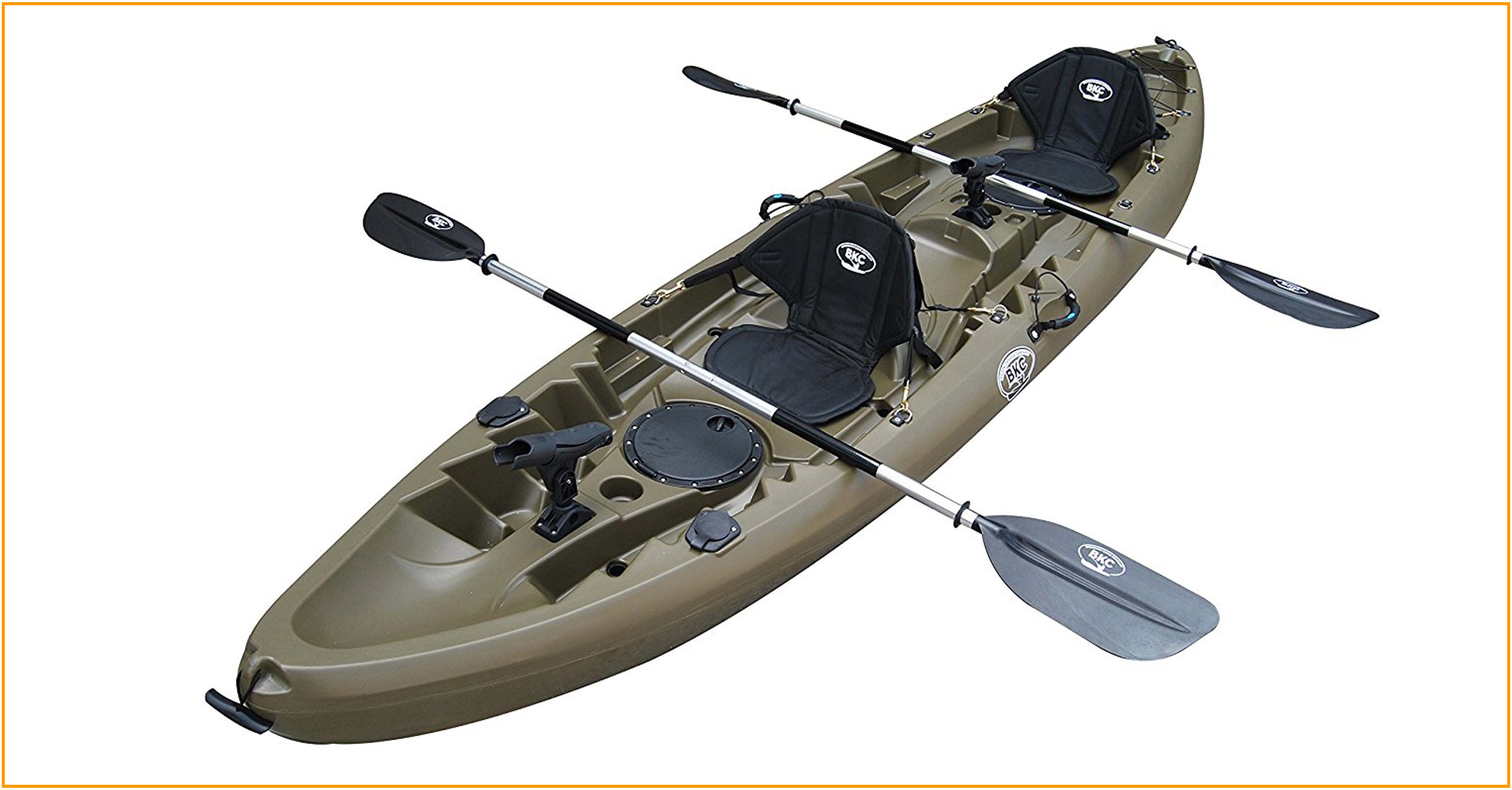 Brooklyn-Kayak-Company-UH-TK219-Tandem-Sit-On-Top-Kayak-Army-Green