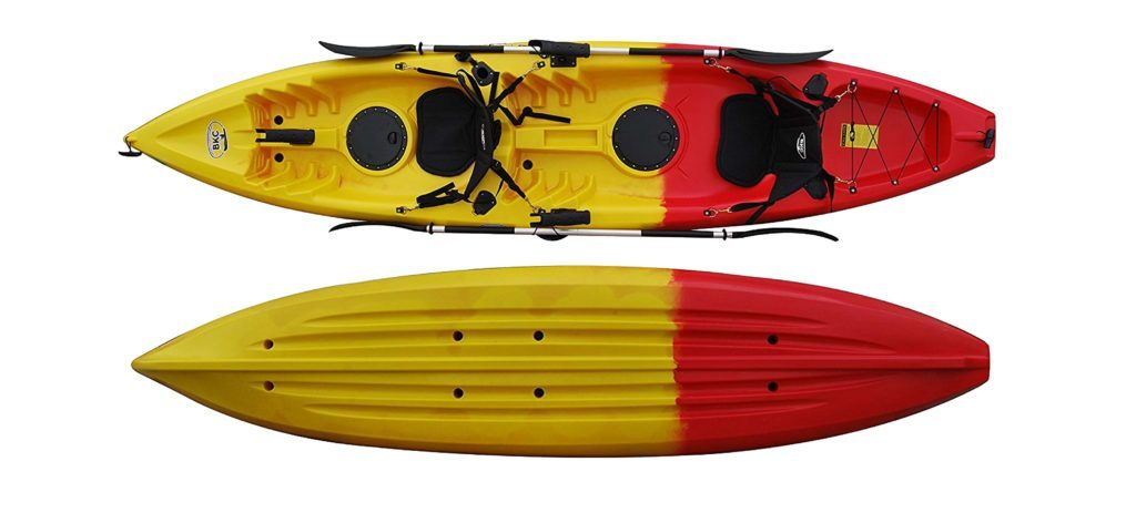 BKC UH-TK181 12.5ft Sit on Top Tandem Fishing Kayak