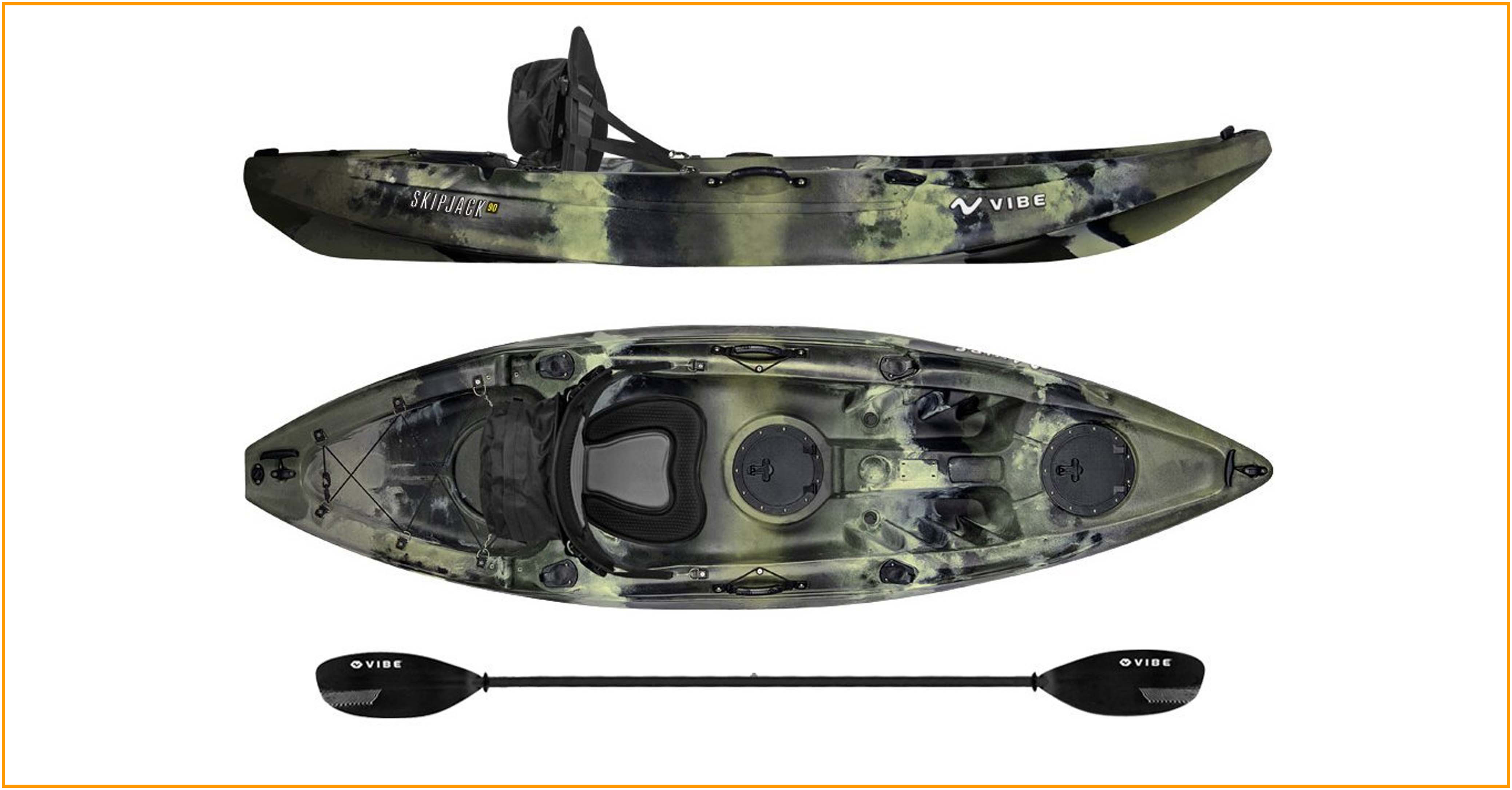 Vibe-Kayaks-Skipjack-90-9ft-Angler-Single-Person