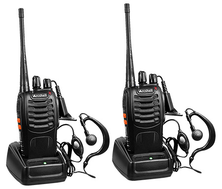 Arcshell Rechargeable Long Range Two-Way Radios (2 Pack)